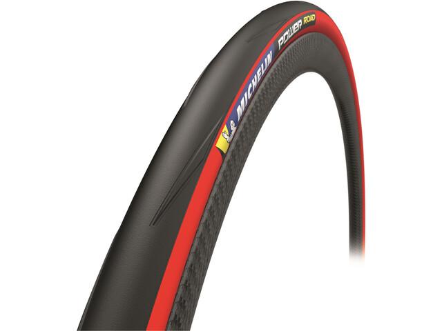 """Michelin Power Road Pneu souple 28x1"""" TS, red"""